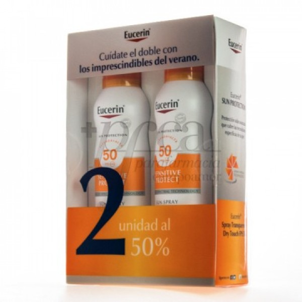 EUCERIN SPRAY DRY TOUCH SPF50 2X 200ML PROMO