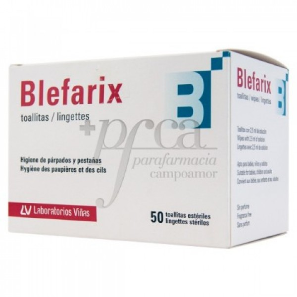 BLEFARIX TOALLITAS ESTERILES 2,5 ML 50 SOBRES