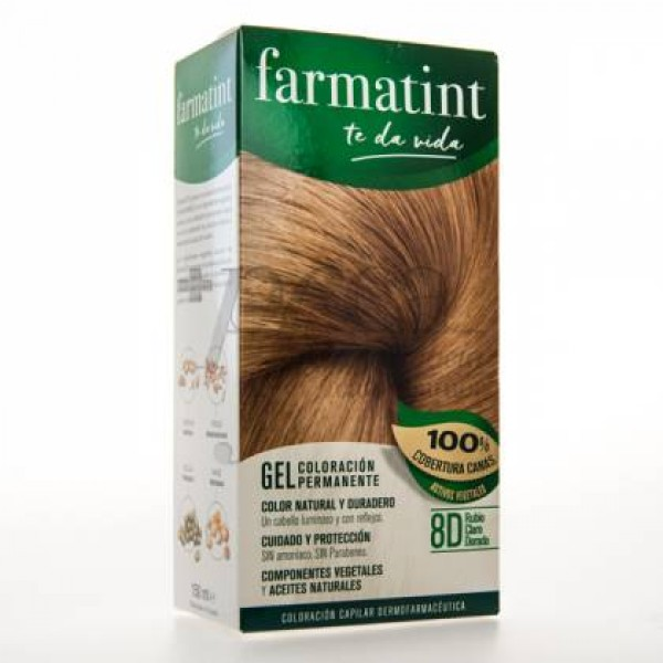FARMATINT GEL 8D RUBIO CLARO DORADO 135ML