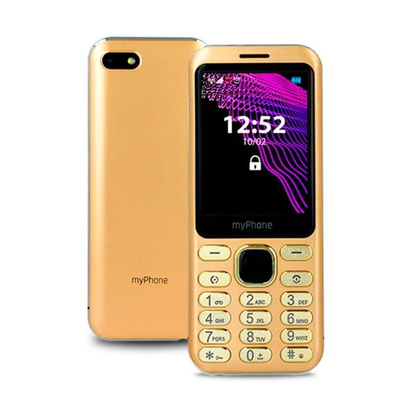 Myphone maestro oro móvil 2g dual sim 2.8'' slim cámara 2mp bluetooth