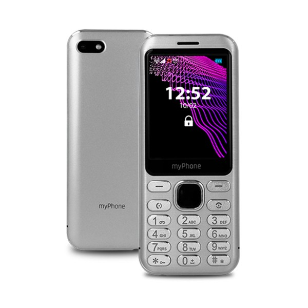 Myphone maestro plata móvil 2g dual sim 2.8'' slim cámara 2mp bluetooth