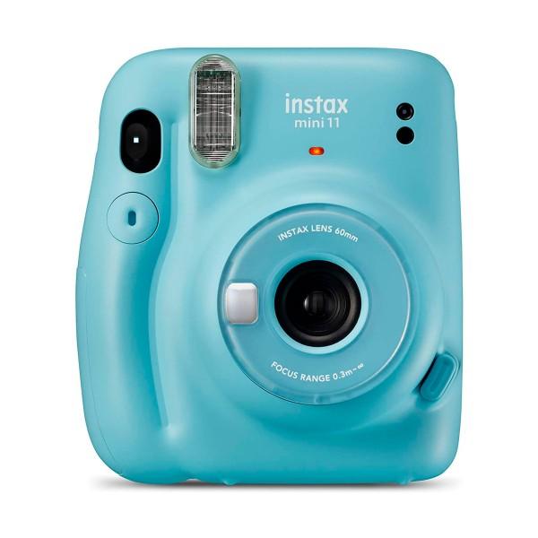 Fujifilm instax mini 11 azul cielo cámara instantánea con flash de alto rendimiento