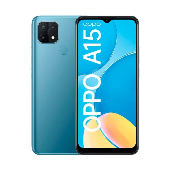 Oppo a15 azul misterioso móvil 4g 6.52'' hd+ octacore 32gb 3gb ram tricam 13mp selfies 5mp