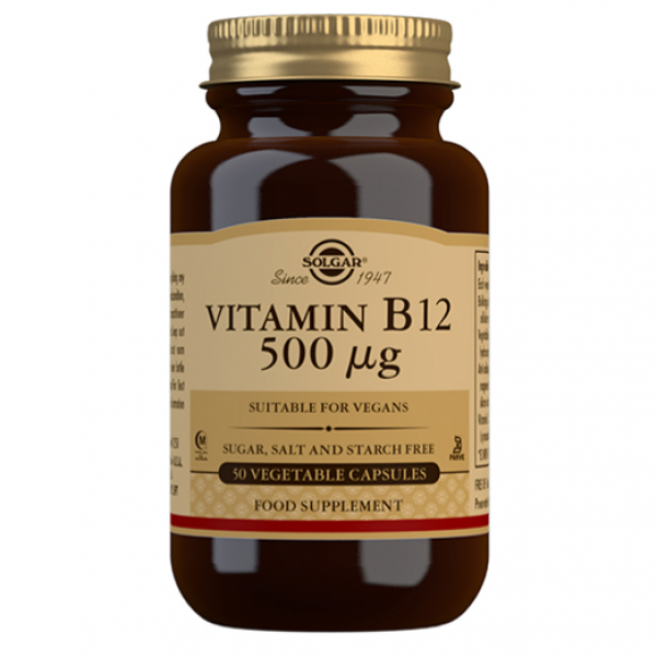 SOLGAR VITAMINA B12 500MG 50 CAPS