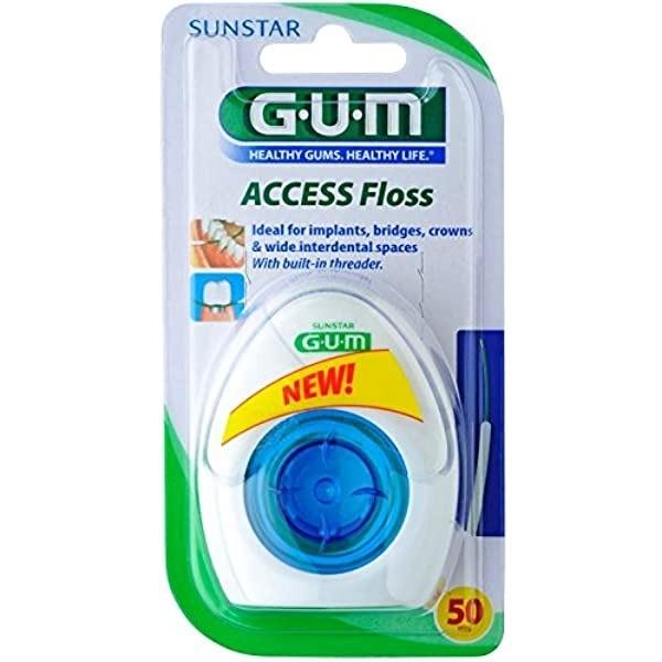 GUM ACCESS FLOSS SEDA DENTAL 50 HILOS R3200